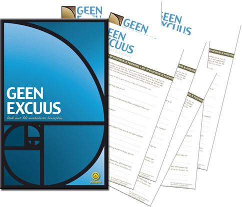 Geen Excuus worksheet bevrijden — Blok met 50 werkbladen